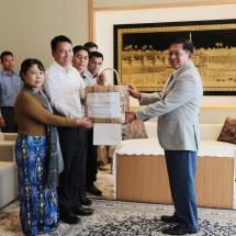 တပ်မတော်ကာကွယ်ရေးဦးစီးချုပ် ဗိုလ်ချုပ်မှူးကြီး မင်းအောင်လှိုင် ဂျပန်နိုင်ငံဆိုင်ရာ မြန်မာနိုင်ငံသံရုံး၊ စစ်သံရုံးမိသားစုများအားတွေ့ဆုံအမှာစကားပြောကြား