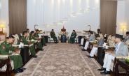 President of Nepal H.E. Mrs. Bidya Devi Bhandari and Senior General Min Aung Hlaing cordially meet