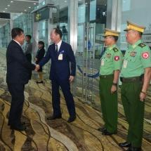 တပ်မတော်ကာကွယ်ရေးဦးစီးချုပ် ဗိုလ်ချုပ်မှူးကြီးမင်းအောင်လှိုင် ဦးဆောင်သည့် မြန်မာ့တပ်မတော်ကိုယ်စား လှယ်အဖွဲ့ဂျပန်နိုင်ငံမှ ပြန်လည်ရောက်ရှိ