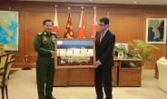 Senior General Min Aung Hlaing meets Minister of Defence of Japan Mr. Taro Kono