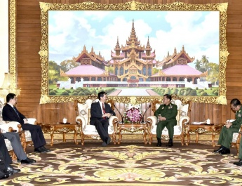 Senior General Min Aung Hlaing receives Special Envoy for Asian Affairs of Ministry of Foreign Affairs of People's Republic of China