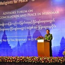Opening Speech delivered by Commander-in-Chief of Defence Services Senior General Min Aung Hlaing to the Religions for Peace-Myanmar (RfP-M)'s third advisory forum on National Reconciliation and Peace
