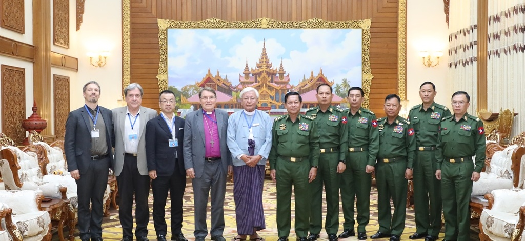 Senior General Min Aung Hlaing receives Religions for Peace-Myanmar