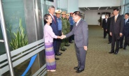 Senior General Min Aung Hlaing leaves Yangon International Airport to attend Defense & Security 2019 of ASEAN countries, ADMM-Plus (VIP Program)