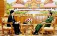 တပ္မေတာ္ကာကြယ္ေရးဦးစီးခ်ဳပ္ ဗိုလ္ခ်ဳပ္မႉးႀကီး မင္းေအာင္လႈိင္ ဂ်ပန္ႏိုင္ငံ၊ The Yomiuri Shimbun သတင္းဌာနအားလက္ခံေတြ႕ဆုံၿပီး ေမးျမန္းမႈမ်ားအားေျဖၾကား ၊ ၿငိမ္းေအးေမတၱာ ( Religions for Peace) အဖြဲ႕အား လက္ခံေတြ႕ဆံု
