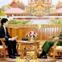 တပ်မတော်ကာကွယ်ရေးဦးစီးချုပ် ဗိုလ်ချုပ်မှူးကြီး မင်းအောင်လှိုင် ဂျပန်နိုင်ငံ၊ The Yomiuri Shimbun သတင်းဌာနအားလက်ခံတွေ့ဆုံပြီး မေးမြန်းမှုများအားဖြေကြား ၊ ငြိမ်းအေးမေတ္တာ ( Religions for Peace) အဖွဲ့အား လက်ခံတွေ့ဆုံ