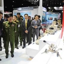 Senior General Min Aung Hlaing visits Defense & Security 2019