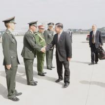 တပ်မတော်ကာကွယ်ရေးဦးစီးချုပ် ဗိုလ်ချုပ်မှူးကြီး မင်းအောင်လှိုင်ဦးဆောင်သည့် မြန်မာ့ တပ်မတော် ကိုယ်စားလှယ်အဖွဲ့ တရုတ်နိုင်ငံမှပြန်လည်ရောက်ရှိ