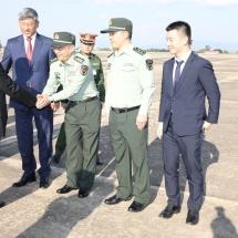 တပ်မတော်ကာကွယ်ရေးဦးစီးချုပ် ဗိုလ်ချုပ်မှူးကြီး မင်းအောင်လှိုင် ဦးဆောင်သည့် မြန်မာ့တပ်မတော် ကိုယ်စားလှယ်အဖွဲ့ တရုတ်နိုင်ငံမှ ပြန်လည်ရောက်ရှိ ၊ CETC ကုမ္ပဏီ ၏ အမှတ်(၃၄)သုတေသနဌာနသို့ သွားရောက်လေ့လာ (ရုပ်သံသတင်း)