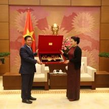 တပ်မတော်ကာကွယ်ရေးဦးစီးချုပ် ဗိုလ်ချုပ်မှူးကြီး မင်းအောင်လှိုင် ဗီယက်နမ်ဆိုရှယ်လစ်သမ္မတ နိုင်ငံ၊ အမျိုးသားလွှတ်တော်ဥက္ကဋ္ဌနှင့် အမျိုးသားကာကွယ်ရေးဝန်ကြီးတို့ကို သီးခြားစီ တွေ့ဆုံ
