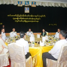 Graduation dinner of 6th Intake of Graduate Female Cadet Course of Defence Services (Army) Officers Training School (Hmawby) held