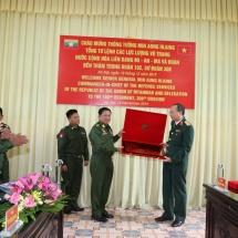 MYANMAR TATMADAW DELEGATION VISITS 102nd MECHANIZED INFANTRY REGIMENT IN HANOI, SOCIALIST REPUBLIC OF VIETNAM
