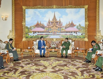 Senior General Min Aung Hlaing receives Cambodian Ambassador to Myanmar