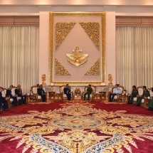 Senior General Min Aung Hlaing receives Commander-in-Chief of Royal Thai Air Force