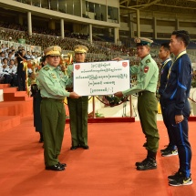 Central Command team wins trophy in 58th Commander-in-Chief of Defence Services' Trophy Tatmadaw (Army, Navy and Air) Football Tournament