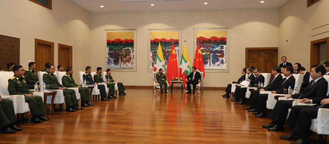 President of People's Republic of China H.E. Mr. Xi Jinping holds talks with Senior General Min Aung Hlaing