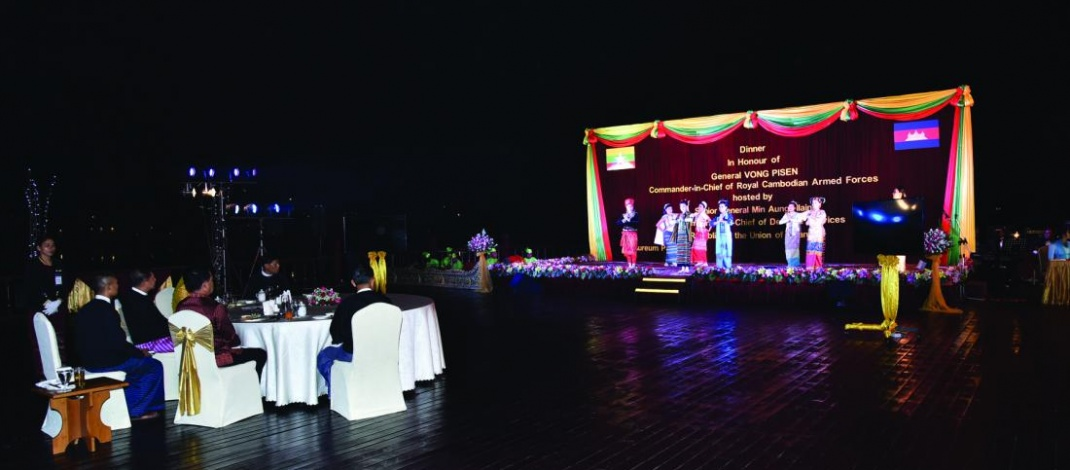 Senior General Min Aung Hlaing hosts dinner to General VONG PISEN in Nay Pyi Taw