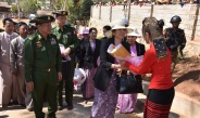Senior General Min Aung Hlaing observes and encourages healthcare undertakings for residents, meets local farmers and discusses regional development