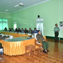 Senior General Min Aung Hlaing meets and delivers speech to trainees of Military Computer and Technological Institute, views provision of healthcare services to local residents