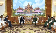 Senior General Min Aung Hlaing receives Chairman of Japan-Myanmar Friendship Association Mr. Hideo WATANABE