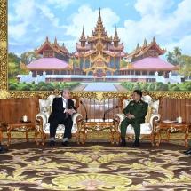 Senior General Min Aung Hlaing receives Chairman of Japan-Myanmar Friendship Association Mr. Hideo WATANABE
