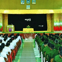 As Tatmadaw is established systematically for national defence, it must be a force imbued with the three capabilities and reliable for the people and the country