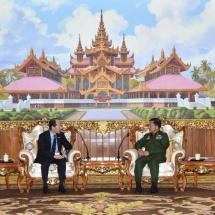 Senior General Min Aung Hlaing receives Japanese Ambassador to Myanmar H.E. Mr. Ichiro MARUYAMA