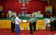Ceremony to donate necessary COVID-19 treatment medicines and medical equipment and cash assistance for displaced persons and Tatmadaw members serving military duties held