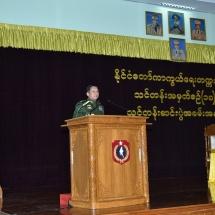 တပ်မတော်ကာကွယ်ရေးဦးစီးချုပ် ဗိုလ်ချုပ်မှူးကြီး မင်းအောင်လှိုင် နိုင်ငံတော်ကာကွယ်ရေးတက္ကသိုလ်၊ သင်တန်းအမှတ်စဉ်(၁၈) သင်တန်းဆင်းပွဲအခမ်းအနားသို့ တက်ရောက် (ရုပ်သံသတင်း)