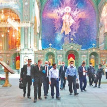 Myanmar Tatmadaw delegation led by Senior General Min Aung Hlaing visits Main Cathedral of the Russian Armed Forces