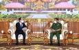 တပ်မတော်ကာကွယ်ရေးဦးစီးချုပ် ဗိုလ်ချုပ်မှူးကြီး မင်းအောင်လှိုင် မြန်မာနိုင်ငံဆိုင်ရာ ဂျပန်နိုင်ငံ သံအမတ်ကြီး H.E. Mr. Ichiro MARUYAMA အားလက်ခံတွေ့ဆုံ