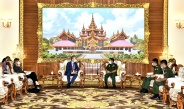 Senior General Min Aung Hlaing receives Ambassador of the Netherlands to Myanmar H.E. Mr. Wouter Jurgens
