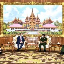 Senior General Min Aung Hlaing receives Ambassador of the Netherlands to Myanmar H.E. Mr. Wouter Jurgens