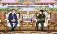 တပ်မတော်ကာကွယ်ရေးဦးစီးချုပ် ဗိုလ်ချုပ်မှူးကြီးမင်းအောင်လှိုင် မြန်မာနိုင်ငံဆိုင်ရာနယ်သာလန်နိုင်ငံသံအမတ်ကြီး H.E. Mr. WouterJurgensအားလက်ခံတွေ့ဆုံ(ရုပ်သံသတင်း)
