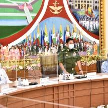 တပ်မတော်ကာကွယ်ရေးဦးစီးချုပ် ဗိုလ်ချုပ်မှူးကြီး မင်းအောင်လှိုင် အား နိုင်ငံရေးပါတီ ၃၄ ပါတီမှ ပါတီဥက္ကဋ္ဌများ၊ ဒုတိယဥက္ကဋ္ဌများနှင့် အတွင်းရေးမှူးများက လာရောက်မိတ်ဆက် တွေ့ဆုံ