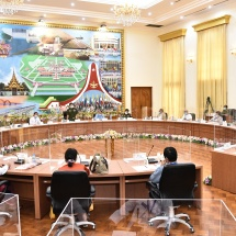 Chairmen, vice chairmen and secretaries of 34 political parties introduce themselves, call on Senior General Min Aung Hlaing