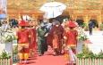 ဘူမိဖဿမုဒြာထိုင်တော်မူကျောက်ဆစ် ဗုဒ္ဓရုပ်ပွားတော်မြတ်ကြီး၏ ဆင်းတုတော် အစိတ်အပိုင်း (၁)အား ပြည်ကြီးမွန်ဖောင်တော်ဖြင့် လှေတော်ဝင်းခင်း၍ ပင့်ဆောင် ပူဇော်ခြင်း မဟာမင်္ဂလာ အခမ်းအနားကျင်းပ(ရုပ်သံသတင်း)