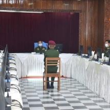 တပ်မတော်ကာကွယ်ရေးဦးစီးချုပ် ဗိုလ်ချုပ်မှူးကြီး မင်းအောင်လှိုင် စစ်တက္ကသိုလ် ဗိုလ်လောင်းသင်တန်းအမှတ်စဉ်(၆၃) စစ်လက်ရုံးရွေးချယ်ပွဲသို့ တက်ရောက်စိစစ်ရွေးချယ်(ရုပ်သံသတင်း)