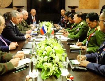 """""""တပ်မတော်သည် နိုင်ငံတစ်နိုင်ငံ၏ ငြိမ်းချမ်းရေးနှင့် အချုပ်အခြာ အာဏာနယ်နိမိတ် တည်တံ့ခိုင်မြဲရေးအတွက် အာမခံချက်ဖြစ်သည်""""ဟူသောခေါင်းစဉ်ဖြင့် တပ်မတော် ကာကွယ်ရေးဦးစီးချုပ် ဗိုလ်ချုပ်မှူးကြီး မင်းအောင်လှိုင်နှင့် ရုရှားဖက်ဒရေးရှင်းနိုင်ငံ Politic မဂ္ဂဇင်းတို့၏ မေးမြန်းဖြေကြားမှုများကို Politic မဂ္ဂဇင်း၌ ထည့်သွင်းဖော်ပြ"""