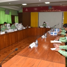 Senior General Min Aung Hlaing inspect for military building in Triangle Region Command
