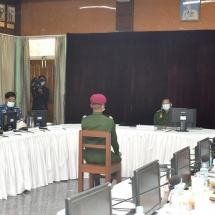 Senior General Min Aung Hlaing attends choice of military arms for 23rdIntake of DSTA