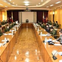တပ်မတော်ကာကွယ်ရေးဦးစီးချုပ် ဗိုလ်ချုပ်မှူးကြီး မင်းအောင်လှိုင် ရှမ်းပြည်နယ် အတွင်း မူးယစ်ဆေးဝါးတားဆီးနှိမ်နင်းရေးလုပ်ငန်းများကို ထိရောက်စွာဆောင်ရွက် နိုင်ခဲ့ကြသည့် မြန်မာနိုင်ငံရဲတပ်ဖွဲ့ဝင်များအား ဂုဏ်ပြုချီးမြှင့်ငွေများ ပေးအပ်ချီးမြှင့်