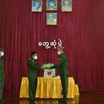 တပ်မတော်ကာကွယ်ရေးဦးစီးချုပ် ဗိုလ်ချုပ်မှူးကြီး မင်းအောင်လှိုင် ကလေးတပ်နယ်နှင့် ကျီကုန်းတပ်နယ်တို့မှ အရာရှိ၊ စစ်သည် မိသားစုများအား ရင်းရင်းနှီးနှီး တွေ့ဆုံအမှာစကားပြောကြား(ရုပ်သံသတင်း)