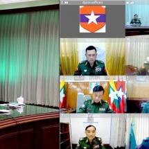 တပ်မတော်ကာကွယ်ရေးဦးစီးချုပ် ဗိုလ်ချုပ်မှူးကြီး မင်းအောင်လှိုင် တိုင်းစစ်ဌာနချုပ် အသီးသီးမှ တိုင်းမှူးများအား Video Teleconference(VTC) မှတစ်ဆင့် တွေ့ဆုံ ဆွေးနွေး(ရုပ်သံသတင်း)