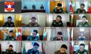 Senior General Min Aung Hlaing meets commanders of military commands through video teleconference (VTC)