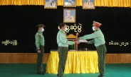 Senior General Min Aung Hlaing meets officers, other ranks, trainees, families of Kengtung Station, local advanced military training depot