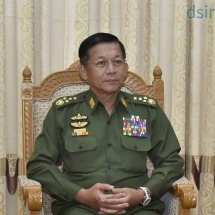 တပ်မတော်ကာကွယ်ရေးဦးစီးချုပ် ဗိုလ်ချုပ်မှူးကြီး မင်းအောင်လှိုင် Asian Fame Media ၏ ပေါ်ပြူလာနယူးစ်ဂျာနယ်မှ မေးမြန်းမှုများအား Video Tele Conference မှတစ်ဆင့် လက်ခံတွေ့ဆုံဖြေကြား