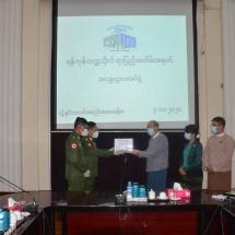 Cash donated in commemoration of centennial anniversary of Yangon University