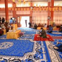 New Gandakuti chamber inaugurated at Thiri Mingala Manhsu Shan Monastery in Lashio, Buddha's replica tooth relic, relics conveyed