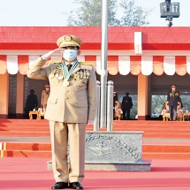 Passing-out Parade of 21st Intake of Defence Services Medical Academy held